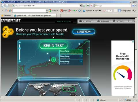 Web Hosting Speed Test