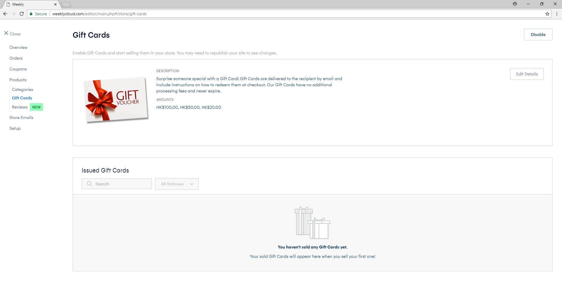 eShop Gift Voucher